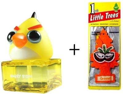 Angry Birds Designer Bottle Base + Little Tree Hanging Lemon Diffuser, Hang Tag Air Freshener 150 g