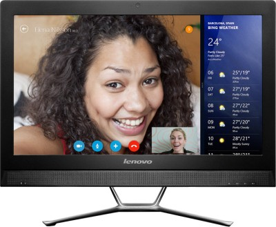 View Lenovo C470 All-in-One (4th Gen Ci3/ 4GB/ 1TB/ Win8.1/ Touch/ 2GB Graph) (57330315)  Price Online