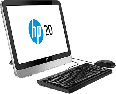 View HP 20-2312 All-in-One (1st Gen PQC/ 2GB/ 500GB/ Win8.1) (J1E85AA) Desktop Computer Price Online(HP)