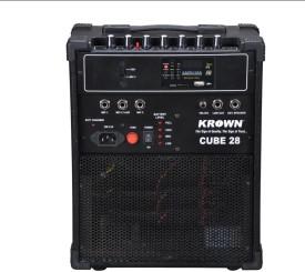 Krown Portable Rechargeable PA System Cube-28-USB with Speaker & Degital Media Player & FM 30 W AV Power Amplifier