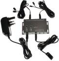 DivineXt IR Remote Extender 4 Emitters 1 Receiver Infrared Repeater Hidden System Kit 12 W AV Power Receiver (Black)