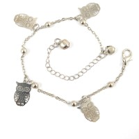 Ammvi Creations Graceful Owlet Delightful Alloy Anklet