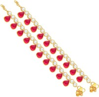 Sukkhi Artistically Gold Plating Alloy Anklet Pack Of 2