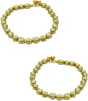 Orniza Vilandi Payal In Neutral Color With Golden Polish Brass Anklet Pack Of 2