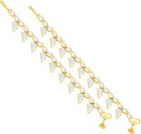 Sukkhi Pleasing Gold Plating Alloy Anklet Pack Of 2