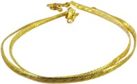 Riyo Riyo Multi Alloy Plain Anklet Beauteous Unique Handmade Jewelry ANK-0040 Alloy Anklet Pack Of 2