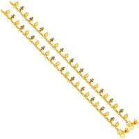 Sukkhi Stylish Gold Plating Alloy Anklet Pack Of 2