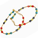 Little India Brass Anklet - Pack Of 2 - ANKDRZ52BDCG3ZRV
