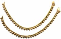 Jewelshingar 9715-payal-antique Brass Anklet Pack Of 2