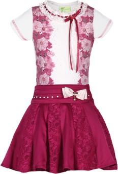 Cutecumber Top And Skirt Set Girls  Combo