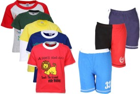 Gkidz T-shirt And Shorts Set Boy's  Combo