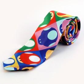 Blacksmith Pop Art Mushroom Design Graphic Print Men's Tie
