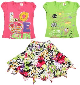 Koolkids Top Girl's  Combo