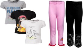 Gkidz T-Shirt Girl's Combo