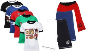 Gkidz T-shirt And Shorts Set Boy's  Combo - ACBE6VC8FXFKUQPC