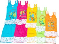 LITTLE FEETZ Baby Girl's Solid Multicolor Top & Skirt Set