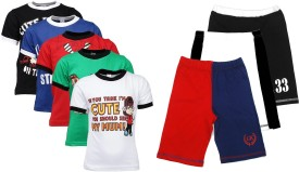 Gkidz T-shirt And Shorts Set Boy's  Combo - ACBE6VC8CKZGBYYZ