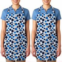 Smart Home Cotton Apron Free Size Blue, Blue, Pack Of 2