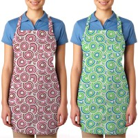 Smart Home Cotton Apron Free Size Pink, Green, Pack Of 2