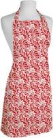 Smart Home Textile Cotton Apron Large Red, White, Single Piece