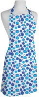 Smart Home Textile Cotton Apron Large Blue, White, Single Piece