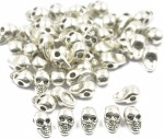 Magideal Art & Craft Toys Magideal Tibet Alloy Skull Jewelry Making Spacer beads