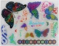 Tootpado Thinking Of You Clear Rubber Stamps, Set Of 16 (CRSW04) - For Card Making And Scrapbooking (1l914)
