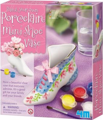4M Art & Craft Toys 4M Paint Your Own Porcelain Mini Shoe Vase
