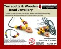 Redbug Wood And Terracotta Jewellery - Heart