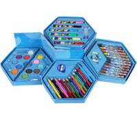 Imaginative Arts Color Kit For Kids - 46 Piece Art Set (Hexagonal)
