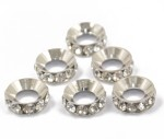 Magideal Art & Craft Toys Magideal Big Hole Silver Plated Spacer Rondelle Beads