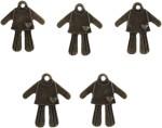Tootpado Art & Craft Toys Tootpado Man/Women Heart Flat Back Metal Craft & Scrapbooking Embellishments Antique Charms and Pendants