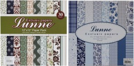 Tootpado Lunne 0607 and 1953 12x12 Craft Paper (Set of 2) - 1l1239 - Art, Card Making and Scrapbooking