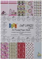 Tootpado A4 Size Cupcakes Design Craft Paper - 10 Designs, 30 Sheets - For Card Making/Scrapbooking