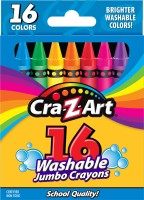 Winning Moves 16ct Washable Jumbo Crayons, Peggable Box - CraZArt