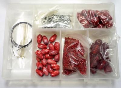 Jaunty Art & Craft Toys Jaunty Beadsnfashion Necklace/Bracelet Making DIY Kit Red