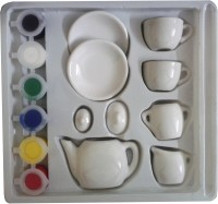 STERLING Paint Tea Set In Fancy Colour For Kids - Art Craft Kit
