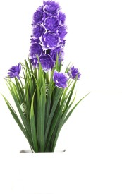 VCK Blue Assorted Artificial Flower  with Pot