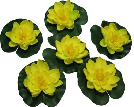 Pollination Floating Lotus Yellow Assorted Artificial Flower