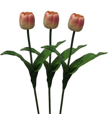 Pollination Rubber Tulip Flowers Pink Tulips Artificial Flower