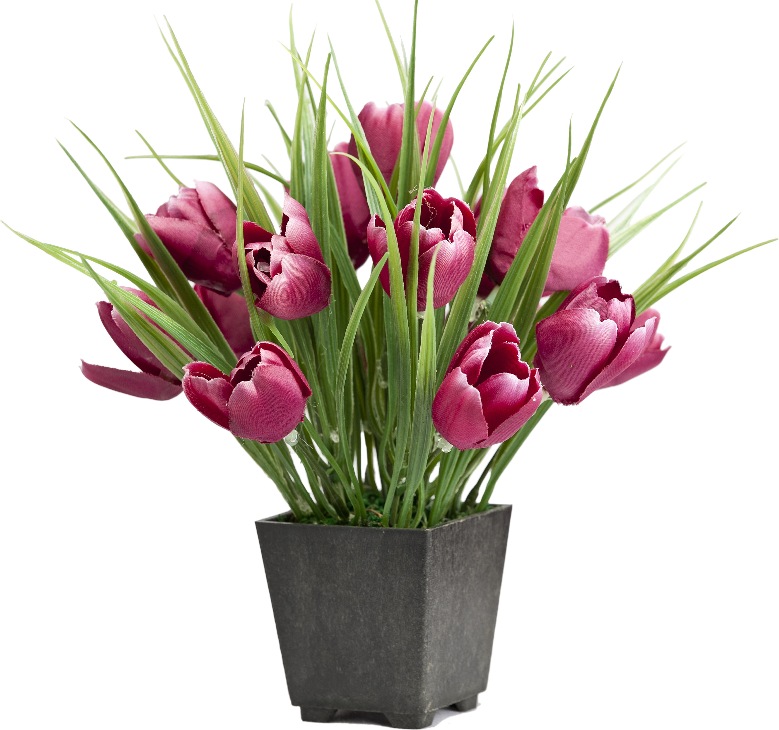 Home decor baby tulip arrangement mini red assorted for Artificial flowers for home decoration india
