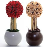 DECO aro DECO aro Red, White Assorted Artificial Flower with Pot