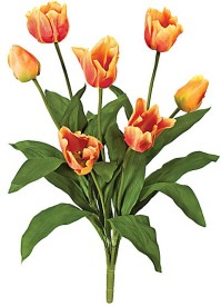 E-Plant Orange Tulips Artificial Flower