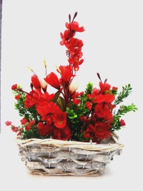 Fusion Gallery Artifical flower Multicolor Assorted Artificial Flower  with Pot
