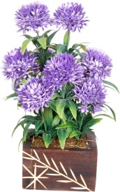 Loxia 4006C Blue Wild Flower Artificial Flower  with Pot