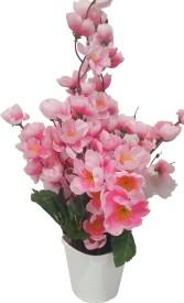 KAYKON Big Bunch Pink Wild Flower Artificial Flower  with Pot