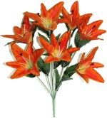 Fourwalls Orange Lily Artificial Flower