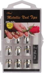 Nail Sina Artificial Nails Nail Sina Metallic Nail Tips Silver