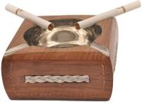 Artist Haat Wood Handicraft Handmade Brown Wooden Ashtray (Pack Of 1) - ASHEAJRJ2SNTQ2SG