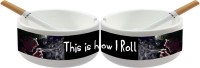 Huppme This Is How I Roll AshTray White Ceramic Ashtray (Pack Of 1)